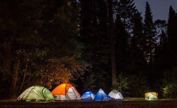 camp outdoors