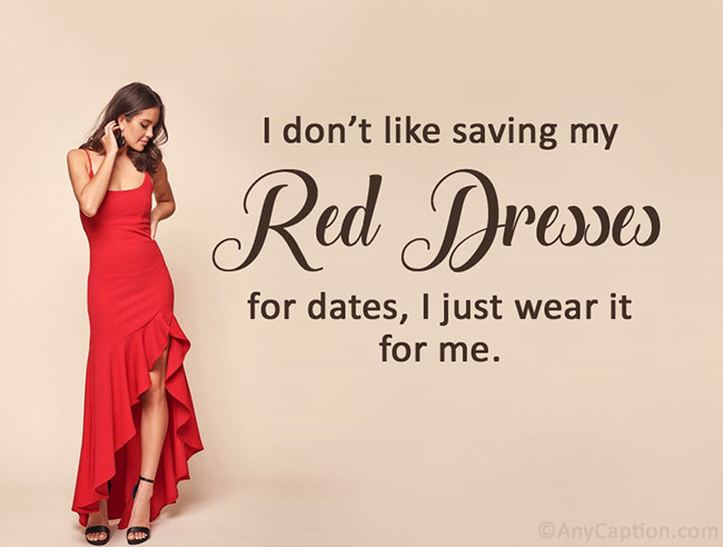 girly-caption-for-red-dress