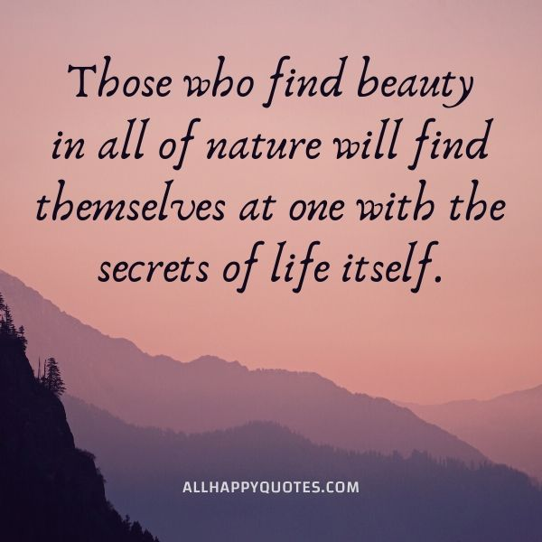 nature quotes about beauty