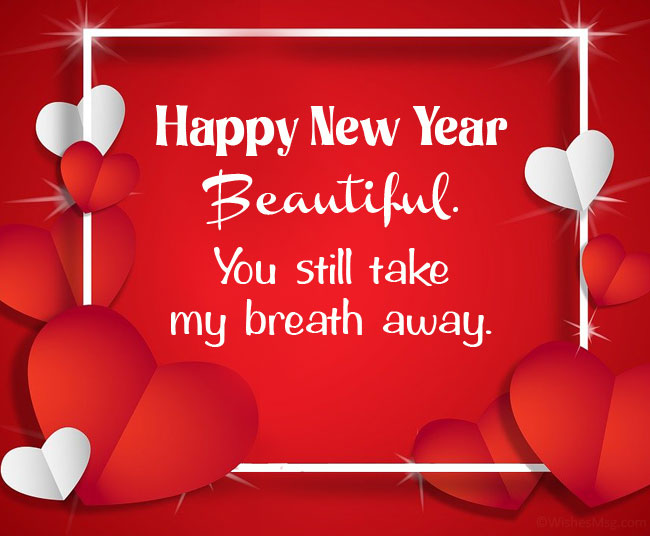 romantic new year wishes for her