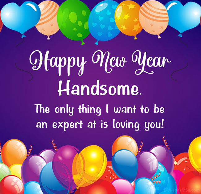 romantic new year wishes for him