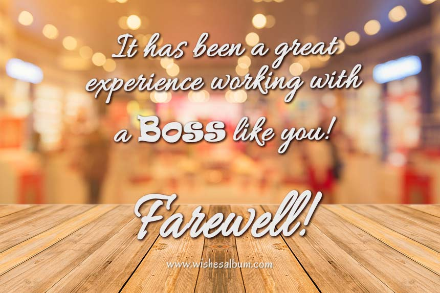 Farewell Messages and Wishes For Boss