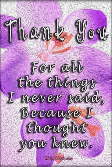 Thank you quote card
