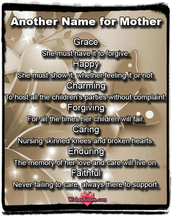 Another name for Mother - Mother's Day Card Messages and Quotes