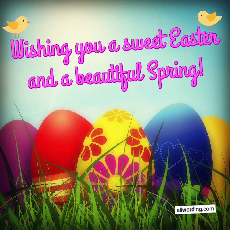 Wishing you a sweet Easter and a beautiful Spring!