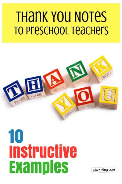 What to say in a thank-you note to a daycare teacher