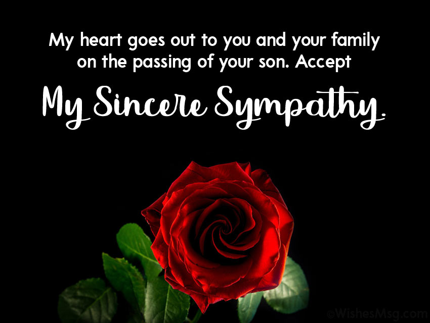 Sympathy for Loss of Child or Infant Son