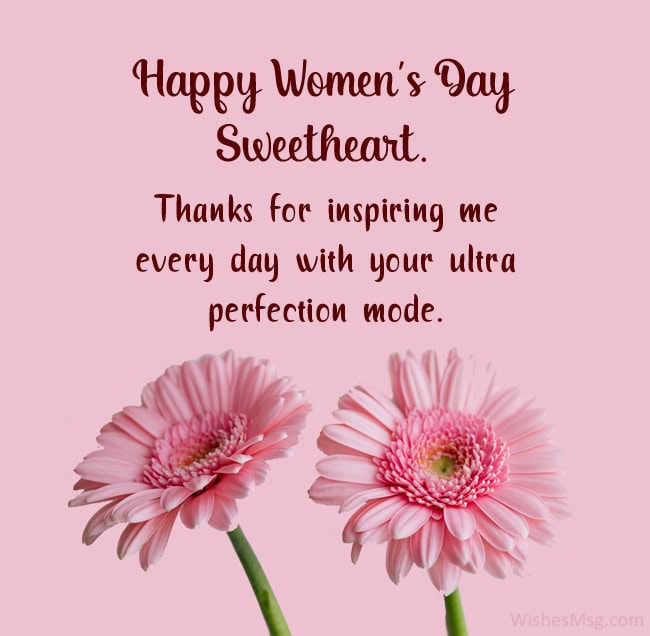 happy women's day wishes to wife