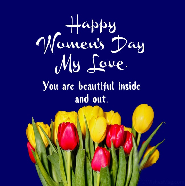 women's day msg for wife