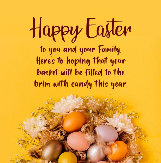 Easter wishes for friends and family