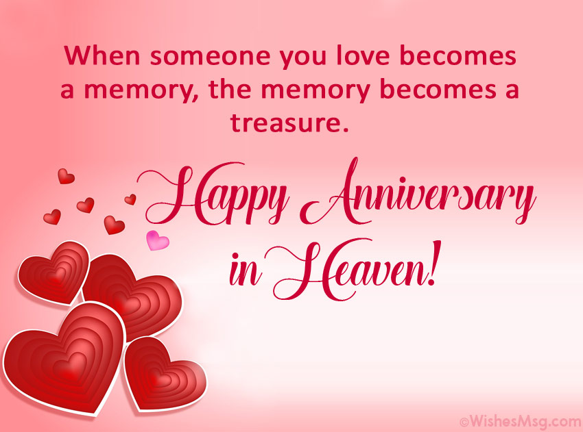 Heavenly Anniversary Messages