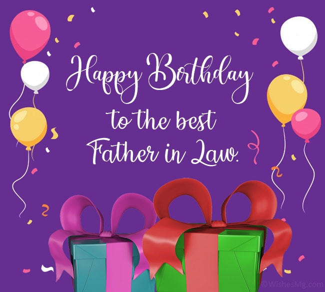 happy birthday messages for father in law