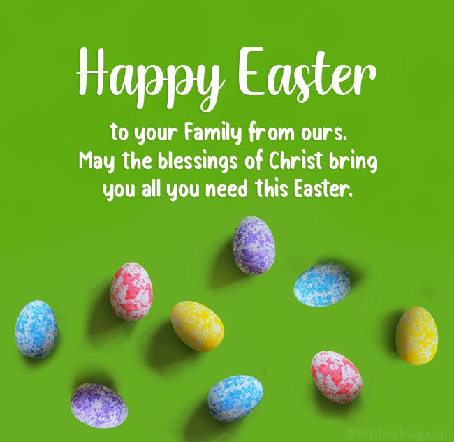 happy easter to your family from ours