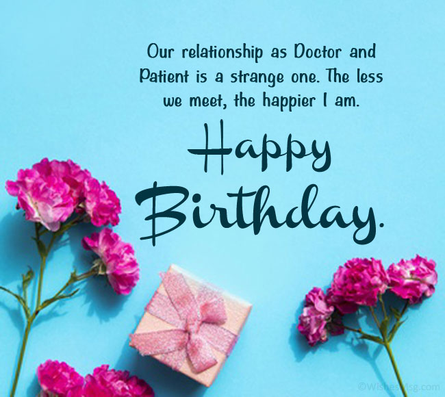 Birthday Wishes to My Doctor