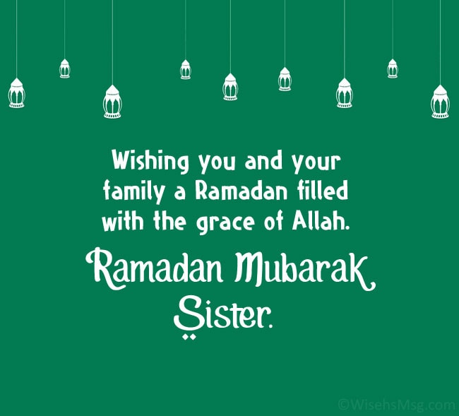 Ramadan Wishes for Sister