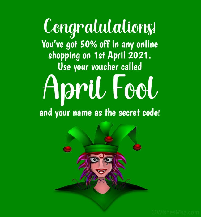 april fool message for friends