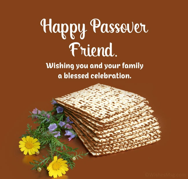 passover greetings to jewish friends
