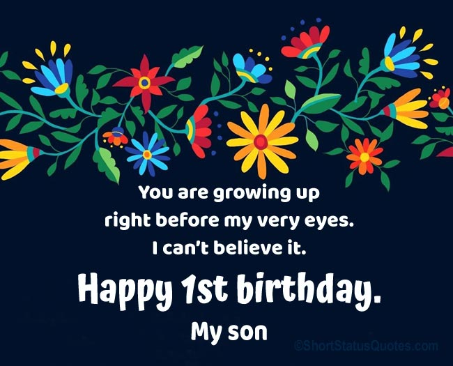 First Birthday Status for Son