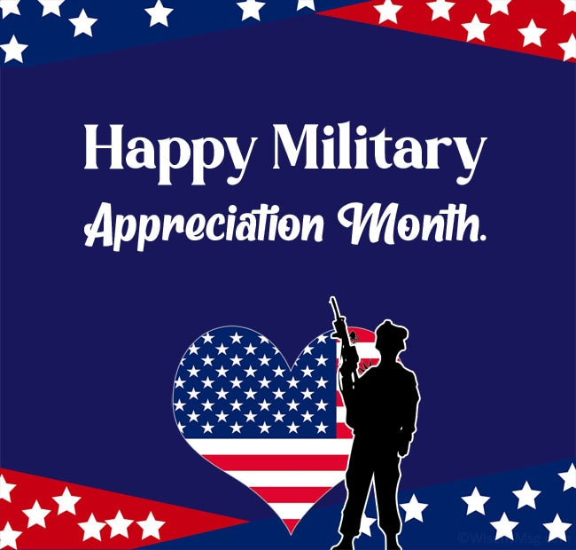 Happy Military Appreciation Month Images
