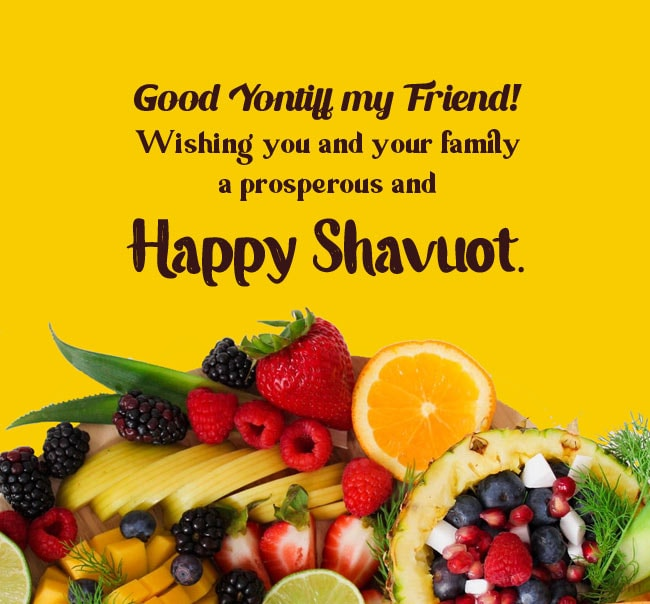 Happy Shavuot Wishes for Friends
