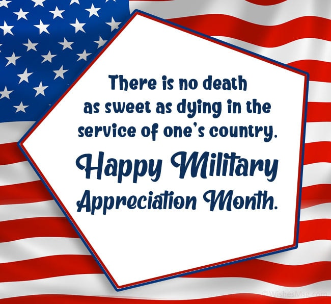 Military Appreciation Month Wishes to Deceased Soldiers