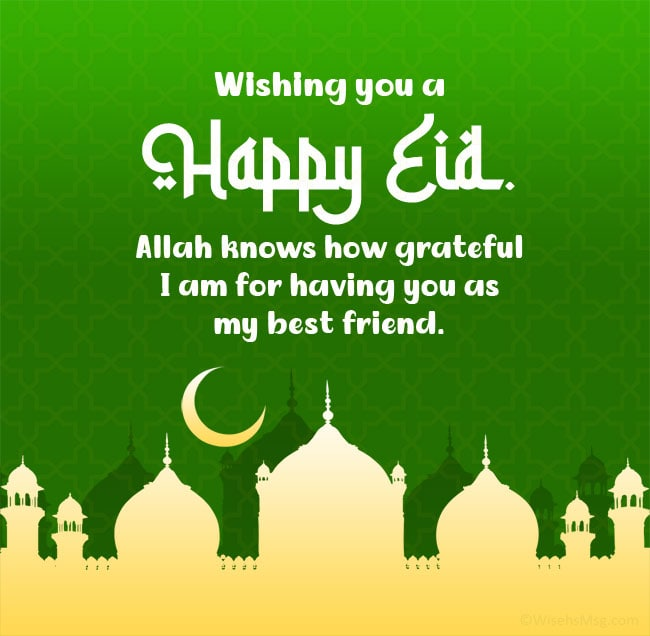 eid wishes for best friend