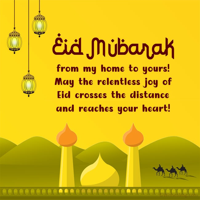 eid wishes for friend far away