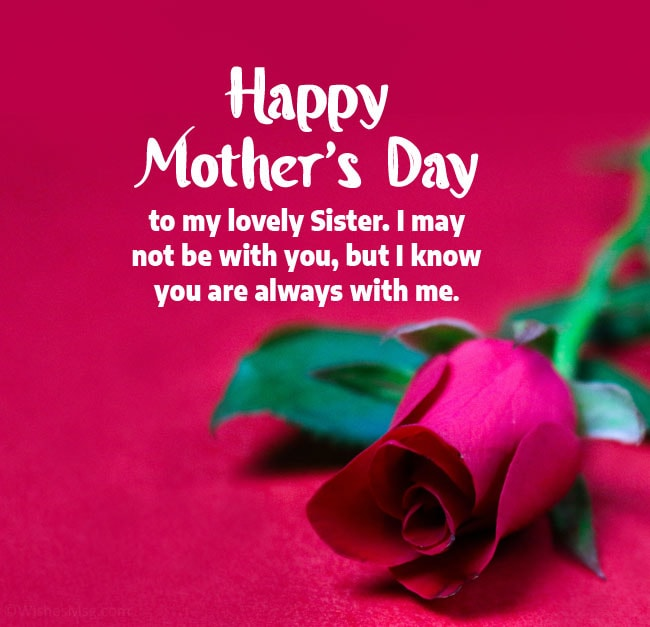 happy mothers day wishes for sister