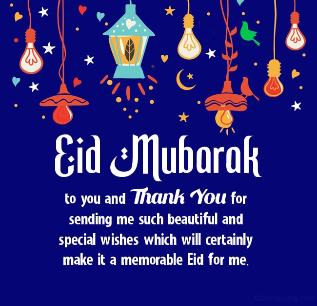 thank you for eid wishes