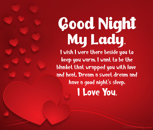 long goodnight paragraphs for her
