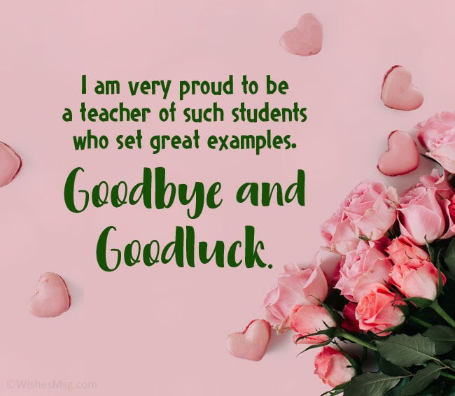 Message to Students During Farewell