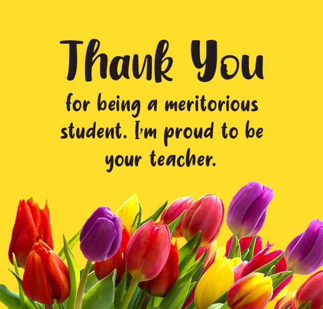 Thank You Message to Student