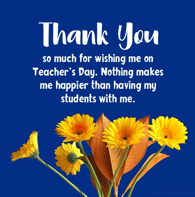 Thank You Message to Students for Teachers Day Wishes