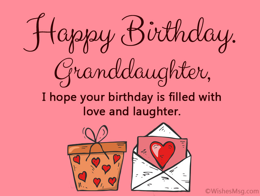Happy Birthday Wishes to My Granddaughter