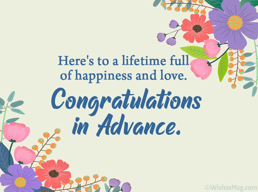 Advance Happy Wedding Messages