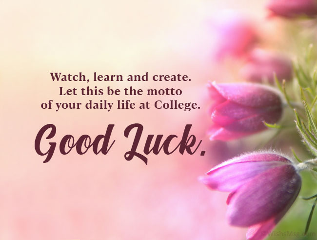 good luck wishes for college